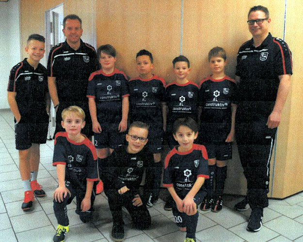 In Team A spielten: Clemens, Felix, Malik, Niki, Linus-Shawn, Patrice und Till