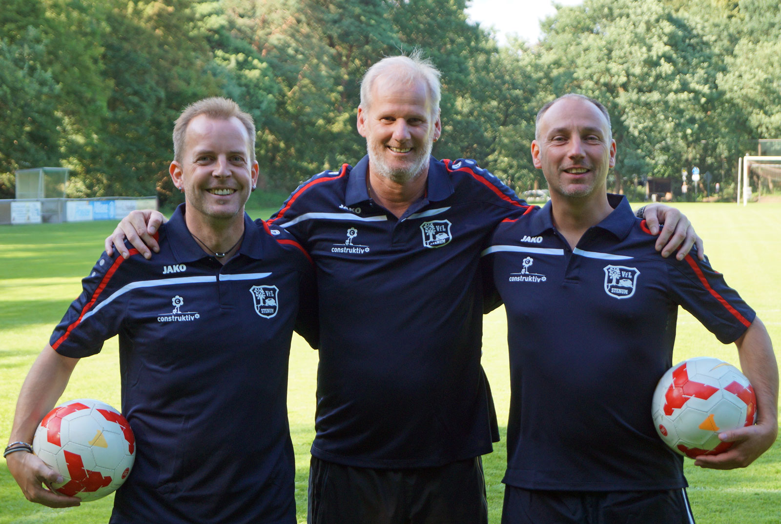Das Trainerteam der E1 in der Saison 2017/2018 (v.l.): Tobias Ihde, Michael Flegel, Andreas Hillermann