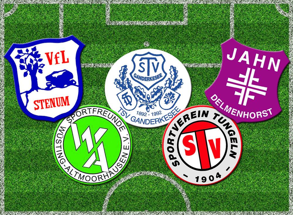 pannende Duelle u.a. zwischen dem SV Tungeln, TV Jahn Delmenhorst und VfL Stenum versprach die Auslosung der Vorrunden-Gruppe F, für die wir kurzerhand auch als Gastgeber eingesprungen waren.